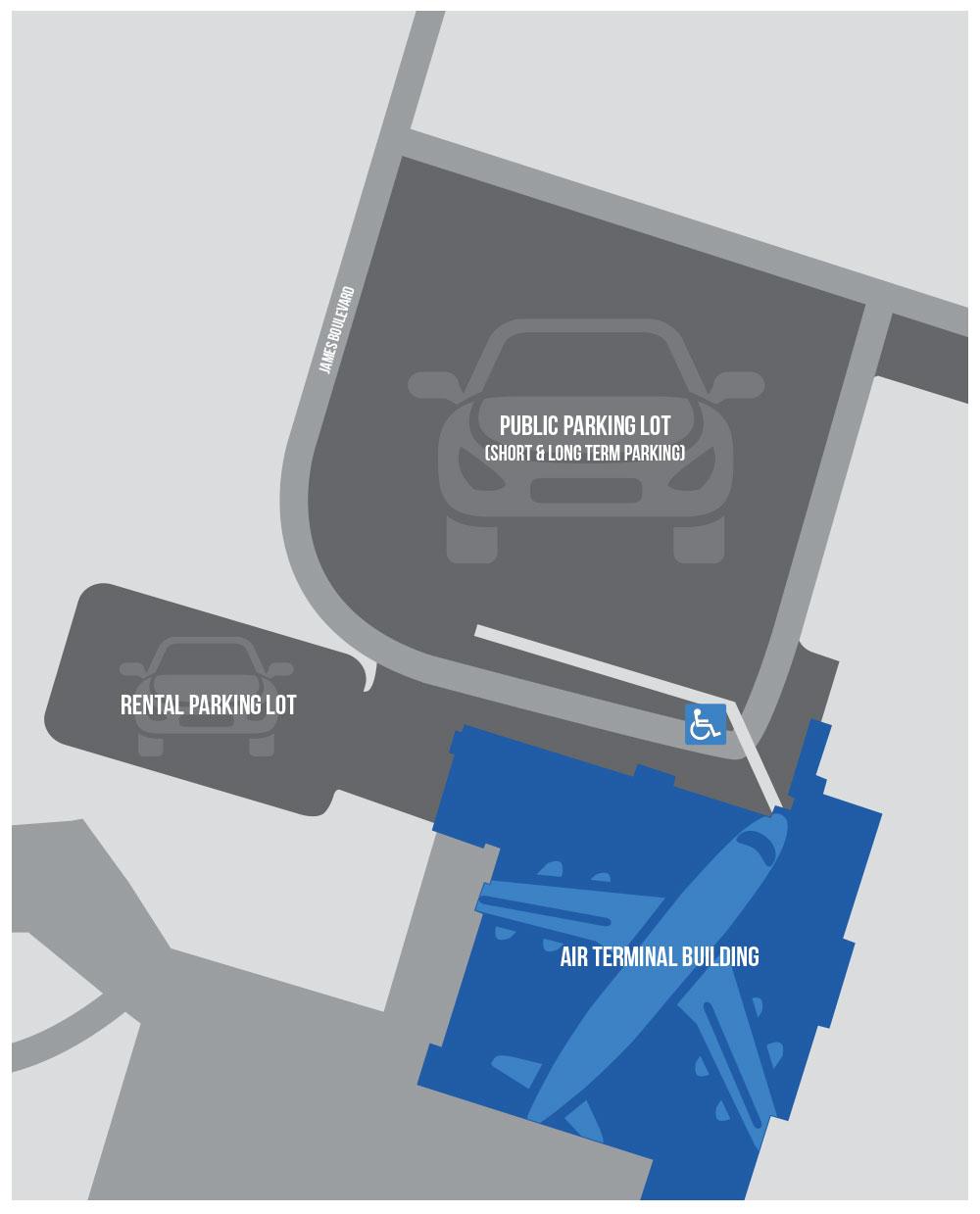 Gander Airport Parking Map